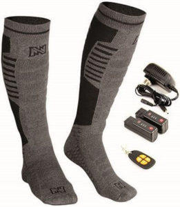 mobile warming heated socks with remote